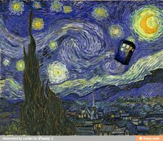 dr.who + starry night = win!