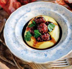 Tom+Kitchin+recipe:+Venison+meatballs+and+polenta