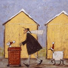 Christmas Day by Sam Toft (b1964; Staffordshire, a landlocked county in the West Midlands of England)