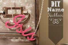 PitterAndGlink: {DIY Name Necklace}