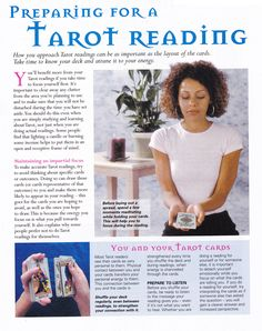 Preparing for a Tarot Reading www.thepsychicline.com