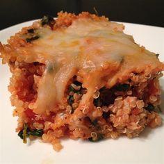 Turkey Spinach Quinoa Casserole - Quick and easy, delicious, gluten-free dinner!
