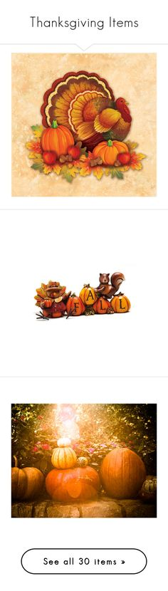 """""""Thanksgiving Items"""" by beckyfairbanks ❤ liked on Polyvore featuring Fall, autumn, holiday, thanksgiving, home, kitchen & dining, table linens, halloween costumes, paper beverage napkins and halloween cocktail napkins"""