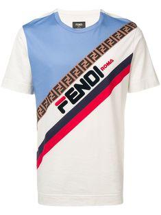 fba5675fe09 Shop Fendi logo print T-shirt. ModeSens Men