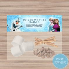 Do You Want To Build A Snowman? Favor Bag Toppers - Disney Frozen Birthday - Printable - Frozen Party