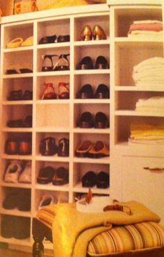 Shoe storage Laundry Storage, Storage Room, Shoe Storage, Walk In Closet, Closets, Pantry, Shelving, Dreams, Home Decor