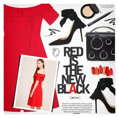 """""""Red Love"""" by metisu-fashion ❤ liked on Polyvore featuring Gianvito Rossi, Stila, MSGM, Bobbi Brown Cosmetics, NARS Cosmetics, polyvoreeditorial, polyvoreset and metisu"""