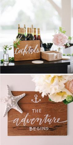 Just the perfect touch of nautical in these gorgeous handcrafted wedding signs. Nautical Wedding Theme, Rustic Wedding, Our Wedding, Dream Wedding, Wedding Ideas, Wedding Signage, Wedding Venues, Party Planning, Wedding Planning