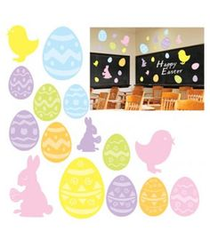 These Easter cutouts are the perfect way to decorate your classroom or home for #Easter!