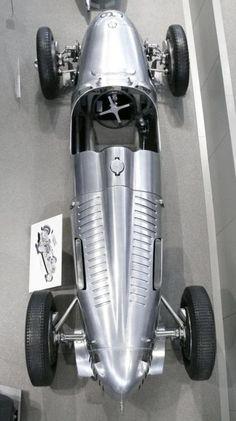 Auto Union Type C Grand Prix silver 1936 ho