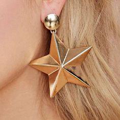 FOR SALE: NASTY GAL 3-D Gold Star Power Sunburst Earrings    http://poshmark.com/closet/cursed