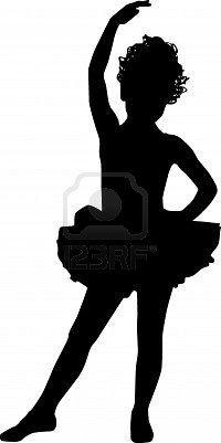 Sweet ballerina silhouette
