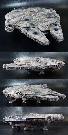 9001778 pixels - Star Wars Models - Ideas of Star Wars Models - 9001778 pixels Diorama, Harison Ford, Millennium Falcon Model, Nave Star Wars, Cuadros Star Wars, Star Wars Spaceships, Images Star Wars, Star Wars Vehicles, Star Wars Models