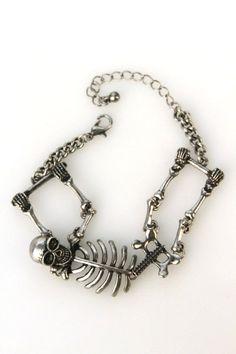 Domino Dollhouse - Plus Size Clothing: Skeleton Bracelet