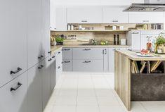 Kuchnie nowoczesne   WFM KUCHNIE - meble kuchenne New Homes, Kitchen Cabinets, Kitchen Inspiration, House, Studio, Home Decor, Decoration Home, Home, Room Decor