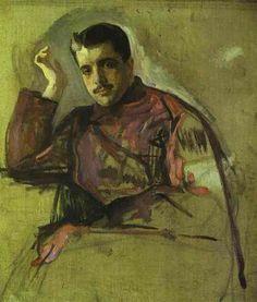 Sergei Diaghilev (1872-1929) in a 1909 portrait by Valentin Aleksandrovich Serov