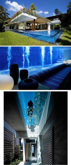 A swimming pool inside your house…