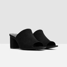 Image 8 of HIGH-HEEL BACKLESS SANDALS from Zara