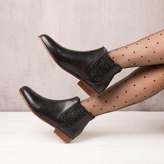 Boots Plates noir ébène - La Féerique - Bobbies