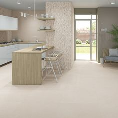Wall tiles range Gades in size, is a white body tile with concretes like finish. White Bodies, Wall Tiles, Corner Desk, Stone, Furniture, Collection, Home Decor, Room Tiles, Corner Table