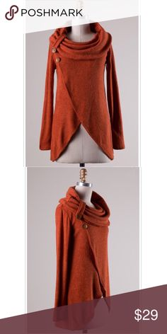 RUST LONG SLEEVE KNIT COWL NECK SWEATER TOP RUST LONG SLEEVE KNIT COWL NECK SWEATER TOP   S:95%POLYESTER, 5%SPANDEX KNIT TOP MADE IN USA  ❌PRICE FIRM❌ ❌NO TRADES❌  ⚜️INSTAGRAM: @SHOP_GOODGIRLCLUB ⚜️TWITTER: @_GOODGIRLCLUB Tops