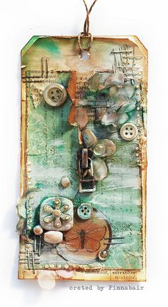 Mixed-media art, art journaling and scrapbooking by polish artist and teacher Anna Dabrowska aka Finnabair. Atc Cards, Card Tags, Gift Tags, Love Tag, Handmade Tags, Paper Tags, Vintage Tags, Artist Trading Cards, Copics
