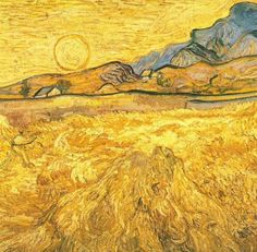 vincent van gogh painting ✐ yellow field ✎
