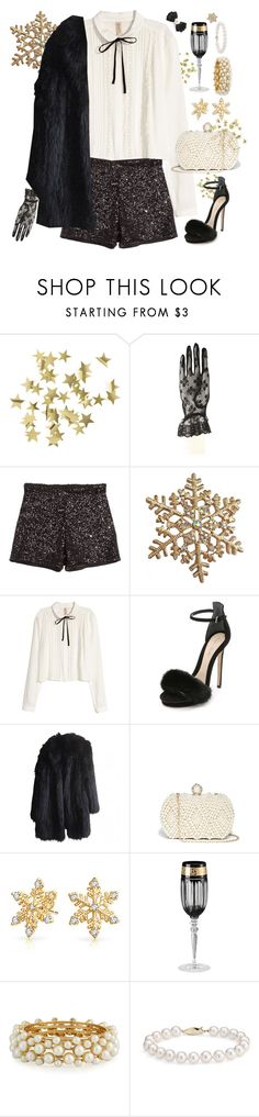 """Preppy NYE"" by blueonyx25 ❤ liked on Polyvore featuring H&M, Monique Lhuillier, Sonia Rykiel, GUESS, Bling Jewelry, Versace, R.J. Graziano, Blue Nile and Tasha"