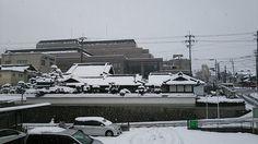 家の前 雪の日