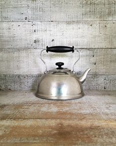 Teapot Tea Kettle Vintage Copco Teapot Mid Century Metal Teapot Stainless Steel Teapot Silver Tea Kettle Retro Teapot Mid Century Pot by TheDustyOldShack on Etsy