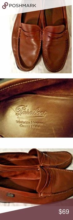 Paraboot Veritable Moccasin Cousu Main-Men's Loafe PARABOOT  GlOBAL LUXURY FOOTWEAR  Mens Slip On Penny Loafers  Veritable Mocassin Cousu Main  High quality handmade, leather uppers Fully leather lined Leather insoles with good arch support Leather soles with half rubber capped heels Size:  9 Superb slip-on loafers in very good condition Paraboot Shoes Loafers & Slip-Ons