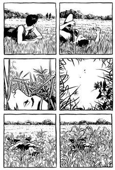 Ear Splitting Trumpet - from R. Kikuo Johnson's Night Fisher Manga Art, Character Art, Graphic Novel Art, Art Inspo, Art Sketchbook, Drawings, Illustration Art, Graphic Novel, Art