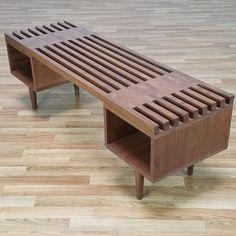 Mid Century slat bench (Furniture) in Pasadena, CA - OfferUp