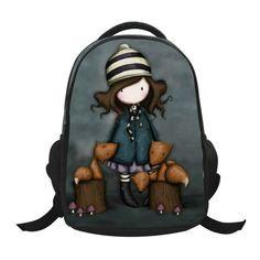 dbb84172b94a Lovely Cartoon Little Girl Printed Patterns Backpack Children School Bags  Boys Backpacks Kids Kindergarten Bag Schoolbags BB79