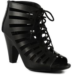 Delicious Women's Richelle Strappy Lace Up Chunky Heels Pumps -- Read more reviews of the product by visiting the link on the image.