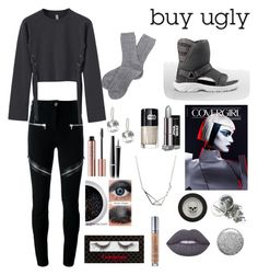 """Honestly what can save those ugly teva uggs ngl"" by siberia-ice ❤ liked on Polyvore featuring Barbour, Givenchy, Chanel, Urban Decay, Lime Crime and Topshop"