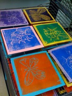 Something about this image excites me and makes me think of all the wonderful printmaking projects I can do.