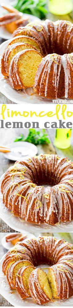 Limoncello Lemon Cake - an irresistible lemon cake with Limoncello liqueur that is a must for any lemon lovers, topped with a sweet Limoncello glaze. Lemon Desserts, Lemon Recipes, Baking Recipes, Sweet Recipes, Delicious Desserts, Cake Recipes, Dessert Recipes, Yummy Food, Sweets Cake
