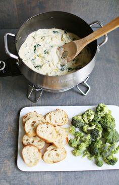 Spinach + artichoke fondue