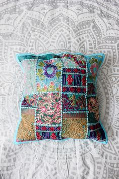 Claire Bloom Patchwork Pillow Covers