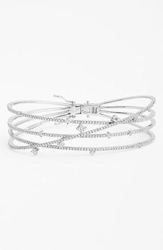 'Solstice' Crossover Diamond Bracelet (Nordstrom Exclusive) EUR 7,606.91 Stunning