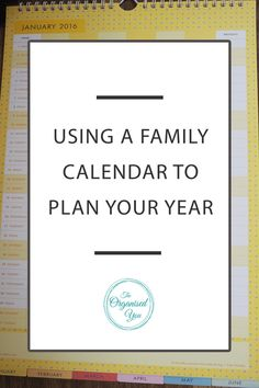 Using a family calendar to plan out your year - a calendar that has all family member's schedules and activities clearly mapped out is a great way to stay organised and on track with your busy schedules. Keeping track of household chores and finances can also be achieved using an organised calendar. Click through to read how I use our family calendar to plan out the year!