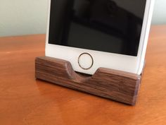 iPhone 6 Stand Walnut iPhone 6 Dock Wood by ARKaufmanWoodworks