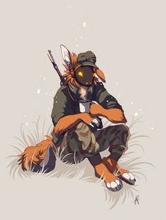 (note: this art has been created by my friend) Character Concept, Character Art, Robot Animal, Furry Comic, Anime Furry, Furry Drawing, Anthro Furry, Cute Animal Drawings, Military Art