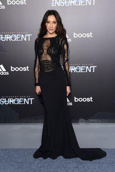 Pin for Later: Shailene Woodley Vole la Vedette Lors de L'avant Première New Yorkaise d'Insurgent Maggie Q