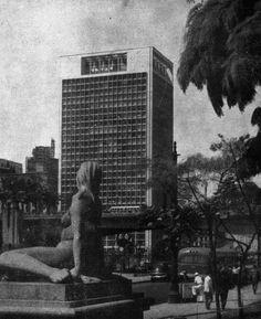 Vale do Anhangabau in 1954 - Sao Paulo, Brazil