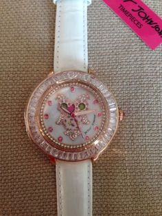 NWT Betsey Johnson Crystal Owl Watch - http://designerjewelrygalleria.com/betsey-johnson/nwt-betsey-johnson-crystal-owl-watch/