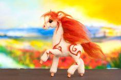 Единорог из войлока - единорог,конь,лошадь,лошадь игрушка,лошадь из войлока