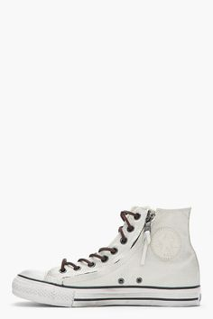 CONVERSE BY JOHN VARVATOS Off-white Chuck Taylor All Star Double Zip Duck Canvas Hi-tops