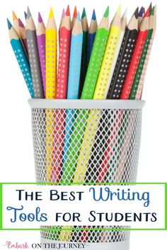 your budding writer needs these writing tools on his or her desk embarkonthejourney